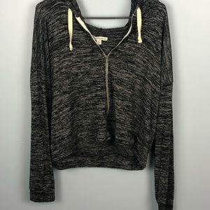 American Eagle charcoal zip up jacket
